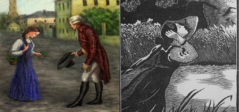 Иллюстрации к повести бедная лиза